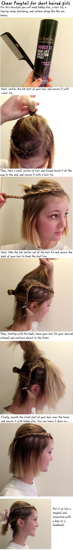 Cheer Hair for short hair