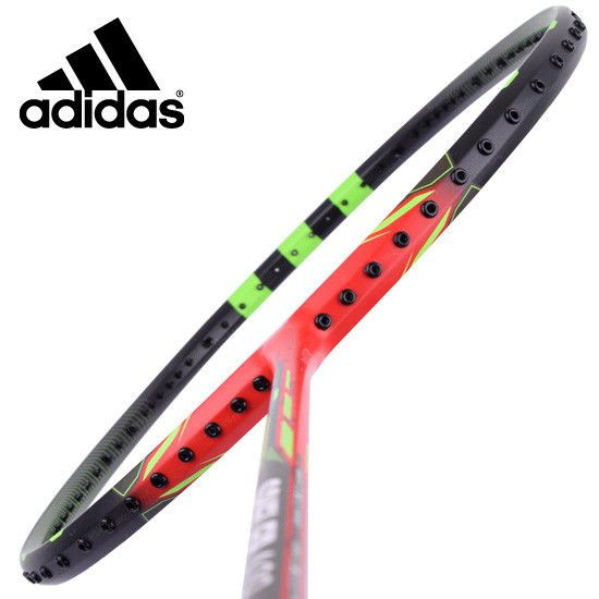 adidas Badminton Racket SPIELLER A09 Black Red Racquet String with Cover G5 #adidas