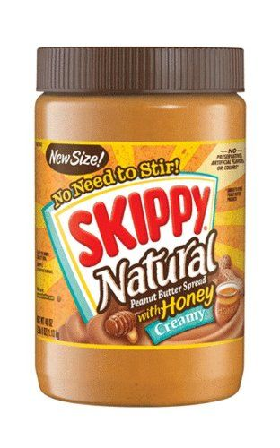 #wow #Skippy Natural Peanut Butter Spread With Honey is all natural, contains no hydrogenated oil, and there's no need to stir.