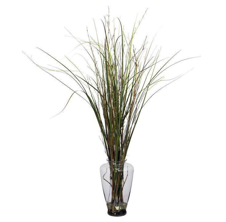 Grass & Bamboo w-Large Jar Silk Plant