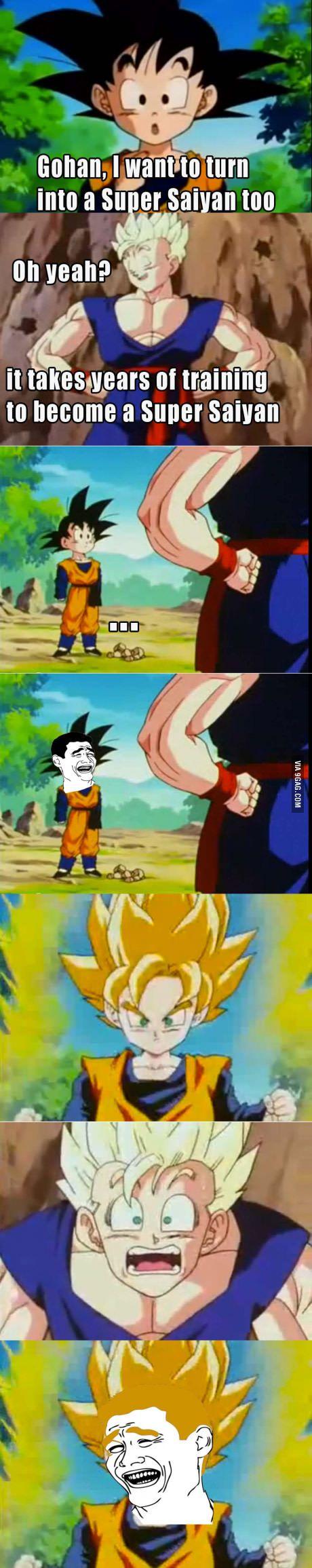 I want to be a Super Saiyan