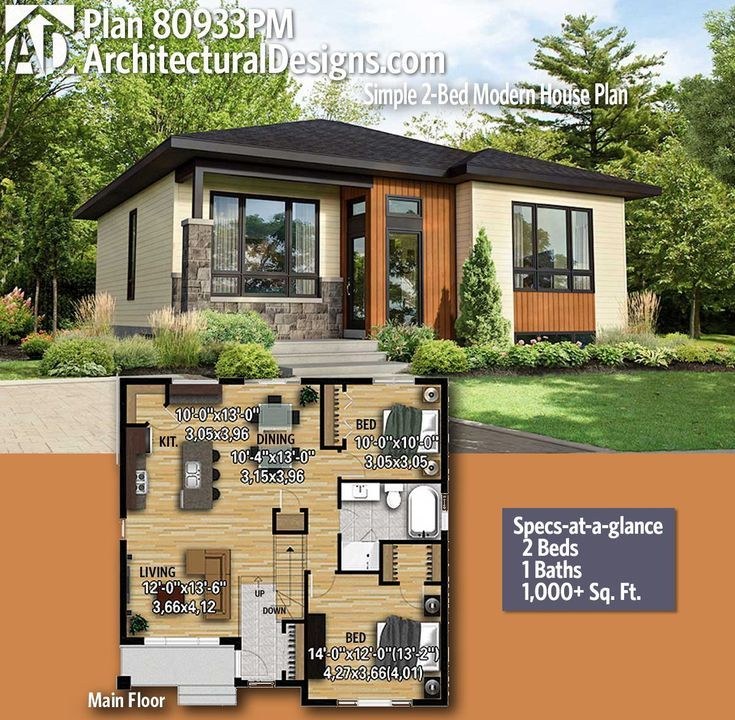 Modern House Plans Architectural Designs Modern House Plan 80933pm Gives You 2 Bedrooms 1 Baths An Dear Art Leading Art Culture Magazine Database House Layouts House Designs Exterior Modern House Plans