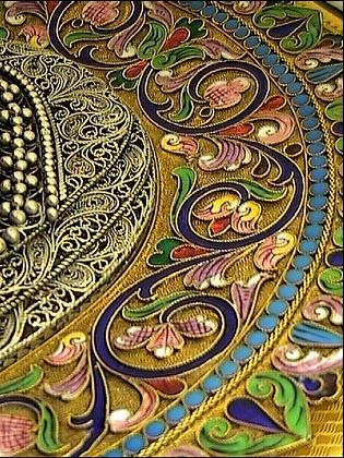 Here is an up-close image of a cloisonné piece. These works of art were…