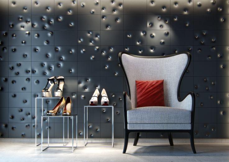 Shop interior with Button tiles