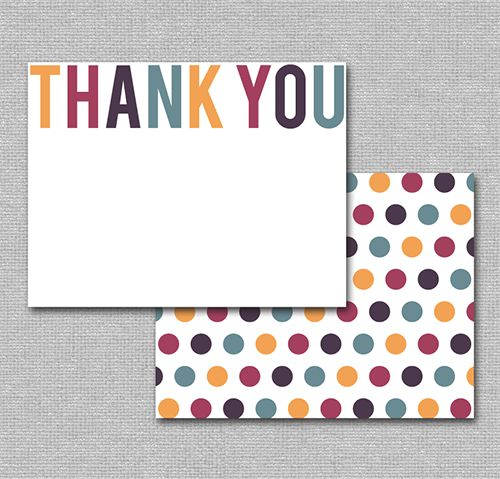 17 Best Printable Thank You Cards Images On Pinterest | Printable