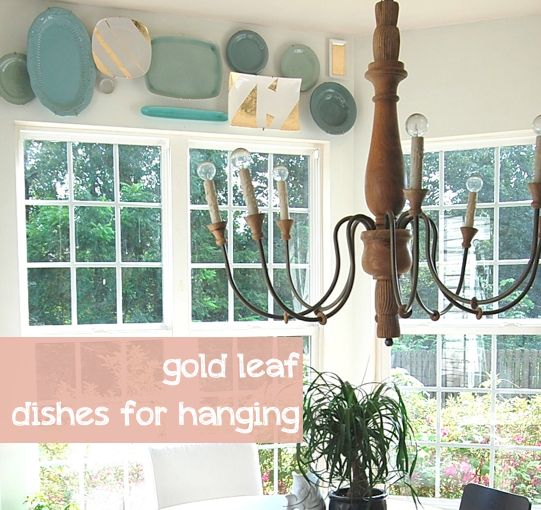 easy, fast & imperfect gold leaf: Chandelier, Window