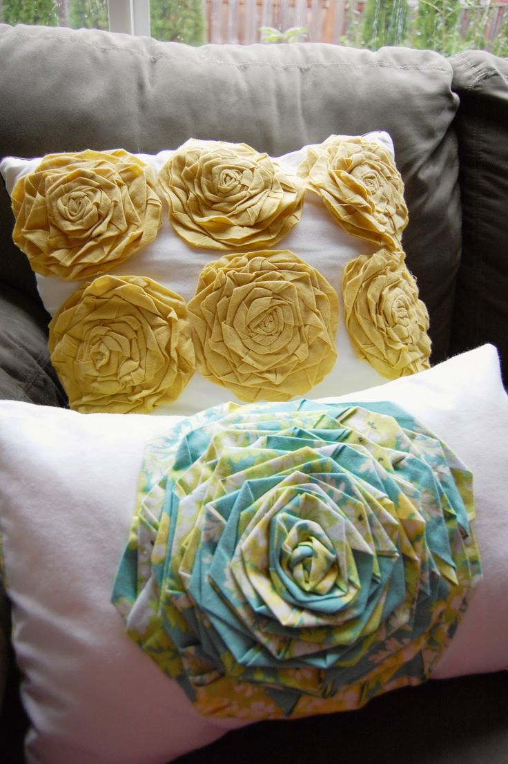 rosette pillow.