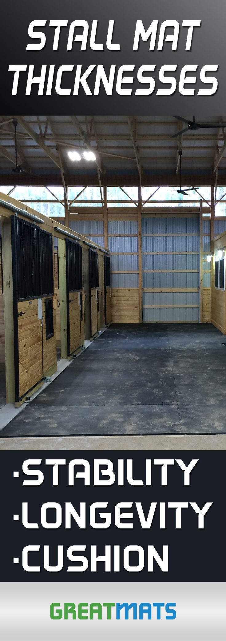 Rubber floor mats barn - How Thick Should Horse Stall Mats Be