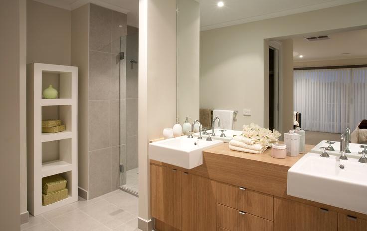 Beautiful ensuite from the Hotondo Homes Seaspray home design. http://www.hotondo.com.au/home-design-seaspray340_129.aspx