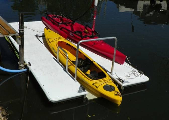 Floating Kayak Dock with Safe Launch from AccuDock.