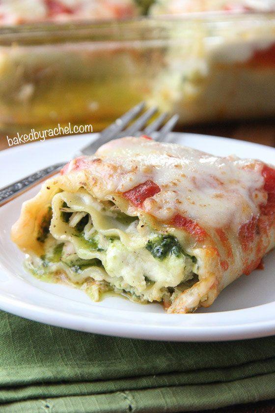 Pesto Chicken Lasagna Rolls Recipe