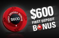 100% First Deposit Bonus up to $600 // Earn $10 for every $28.33 paid in rake/fees (35%) for up to 270 days (or until the full $600.00 is earned)