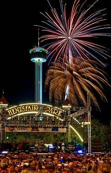 San Antonio's most popular New Year's celebration. Texas - Fireworks