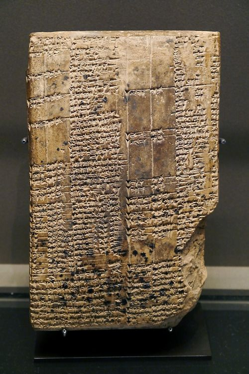 Ancient dictionary from Warka, Uruk, thought to be one of the first. Dates to the middle of 1st millenium BC, and is currently located at the Louvre, France.