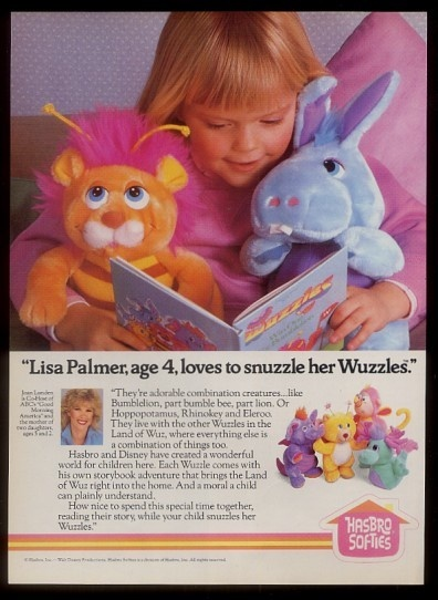 Wuzzles 80's toy OMG I loved the cartoon and my sister had the dolls .