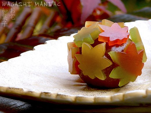 Wagashi Momiji, fall leaves  Like, repin, share!  Thanks!