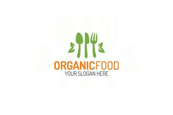 Organic food logo by MIRARTI on @creativemarket