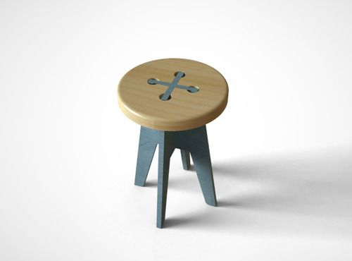 Created By Korean Designer Yeongwoo Kim, The Button Stool Is A Clever Piece  With Very Simple X Structure Combining The Strap Of The Button.