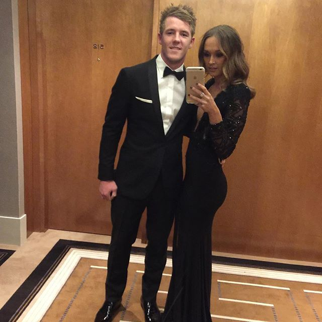Luke Parker, Sydney Swans in the Montgomerie Black Tux: http://www.mjbale.com/mens-suits/tuxedos/montgomerie-black-tux-22612