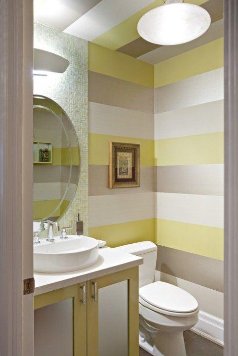 Сочетание цветов в интерьере — полосатые стены | Роскошь и уют