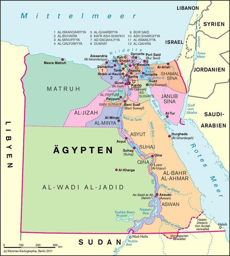 Landkarte Aegypten 4
