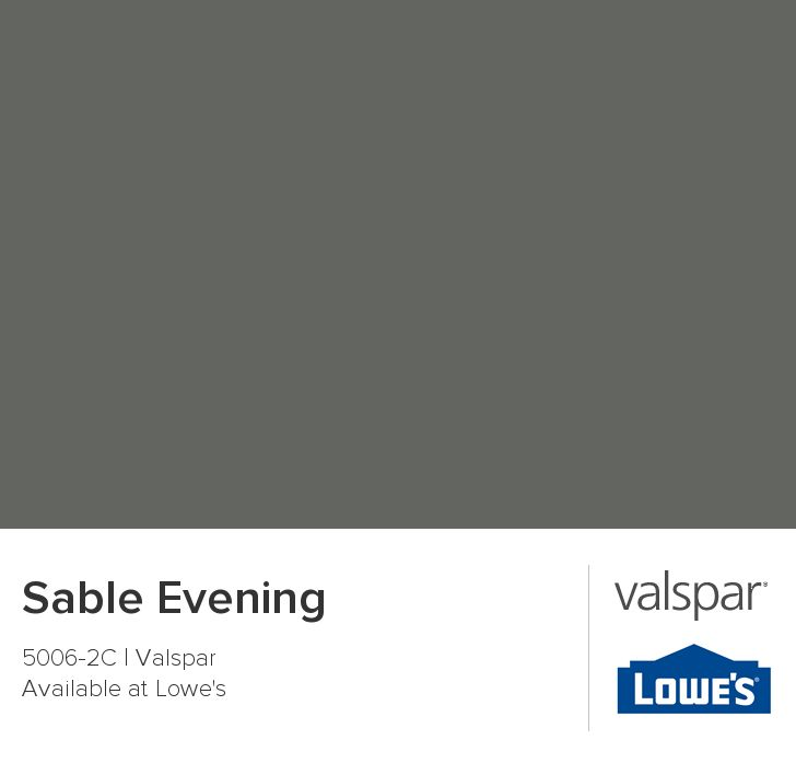 Sable Evening from Valspar, living room color, with the ...