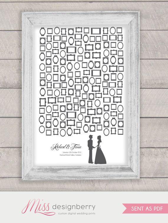Cozy Wedding Guest Book Alternative With Custom Couple