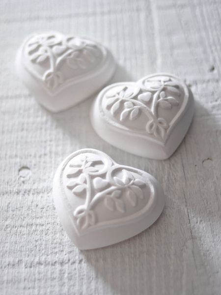 Scented Clay Hearts.