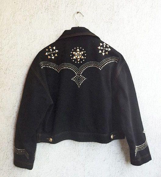 Alberta Ferretti -  Spring Jeans Jacket with studs - Rare - Rock Chic -