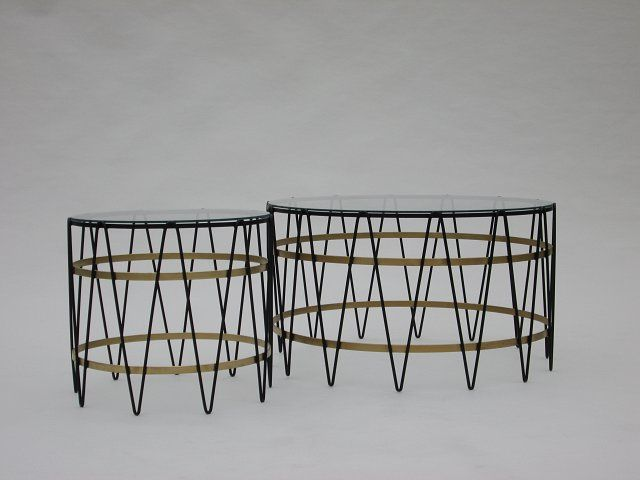 Drum tables. Medium and large.