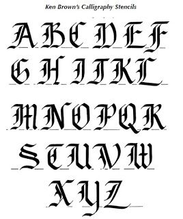Calligraphy Alphabet : old english calligraphy alphabet