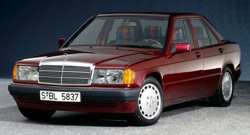 http://chicerman.com  carsthatnevermadeit:  Mercedes Benz 190 E 1.8(W 201) Avantgarde Rosso 1992. The W201 was introduced in 1982 as the the firstsmall Mercedes Benz of the modern era the W202 series from 1993 introduced the C-class brandthe W 203 series launched in 2000 shown with the W 202 and W 201 in the background  The W201 was only sold as a 4 door saloon though prototypes of station wagon convertible and hatchback variants were developed but never put into production there was also a…