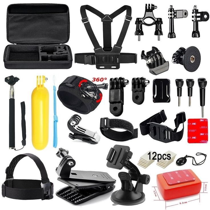 Soft Digits Accessories Kit for GoPro Hero 5 4 3+ 3 2 1 Session Accessory Bundle #SoftDigits