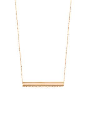 Collier Straw or rose Ginette NY - Lepage