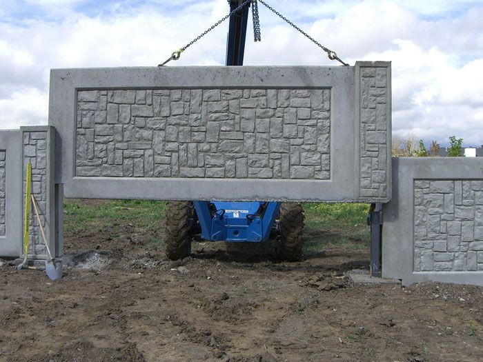 Colorado Concrete Fence, Multi Panel Concrete Fence Installation - Denver - Colorado Springs - Boulder - Longmont - Loveland - Fort Collins