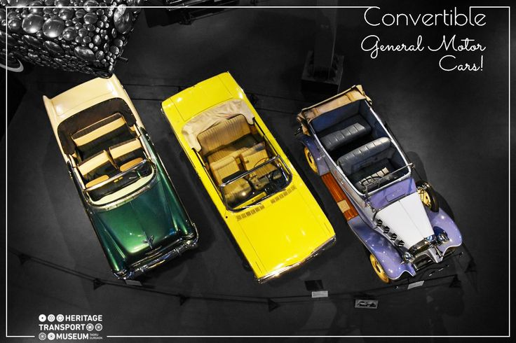 Checkout some of the convertible cars produced by General Motors, displayed in the automobile gallery of the museum!  #ConvertibleCars #VintageCars #VintageCollection #Museum