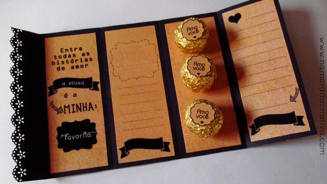 Cartão dia dos Namorados preto