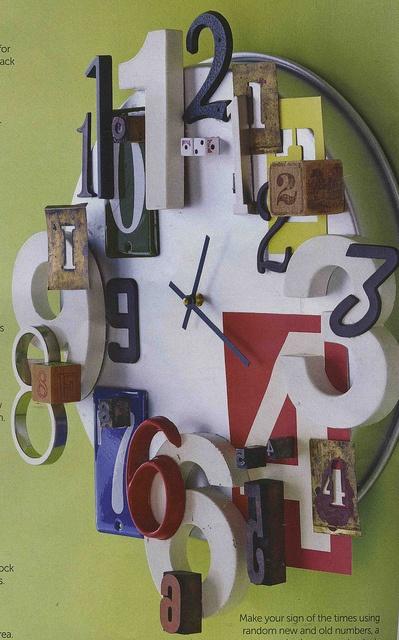 fresh idea whimsical clocks. I like this whimsical DIY clock  137 best Relojes images on Pinterest Clock wall Wall clocks