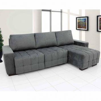 sofa retratil 3 lugares cinza 3