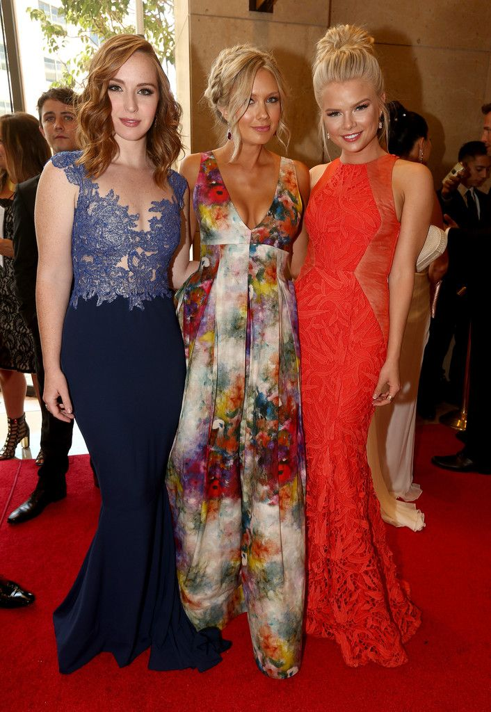 Actresses Camryn Grimes, Melissa Ordway, and Kelli Goss attend The 41st Annual Daytime Emmy Awards at The Beverly Hilton Hotel on June 22, 2014 in Beverly Hills, California.