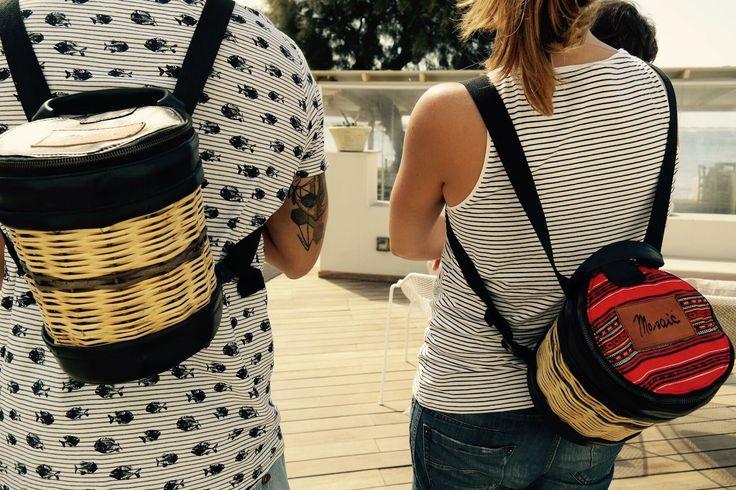 New Arrivals - Handmade Basket Leather Backpack - Greek Designers - Greek Culture - Island Life - Stylish Outfit - Fashion -