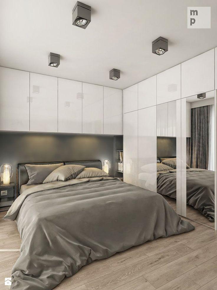 INTERIOR | Mieszkanie - Warszawa 02 - Średnia sypialnia małżeńska, styl nowoczesny - zdjęcie od Manufaktura Projektów
