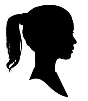 Making a Profile Silhouette: Girl's Silhouette Profile