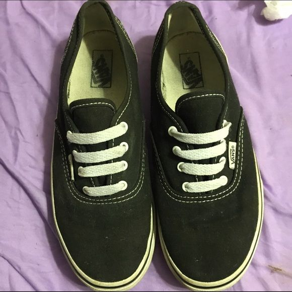 black and white vans in good condition. just need a little cleaning and will look great again. kids size 3. Vans Shoes Sneakers