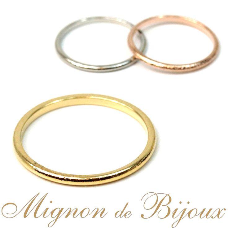 リング 指輪 レディース 激安 300円 アクセサリー ファランジリング ミディリング 関節リングリング シンプル ピンキーリング[Mignon de Bijoux][ミニョンドゥビジュー]【楽天市場】