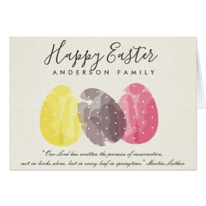 MODERN COLORFUL WATERCOLOR EASTER EGGS PERSONALISE CARD - romantic wedding love couple marriage wedding preparations