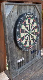 Dart Board Made From Pallets