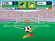 Cùng Zochoigame.com chơi game Mickey đá bóng. Trong trò chơi này bạn sẽ phải giúp chú chuột Mickey đánh bại đối phương bằng những cú sút chính xác nhất.