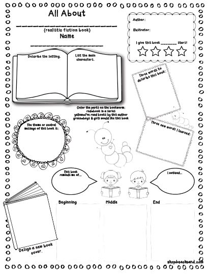book review form for kids