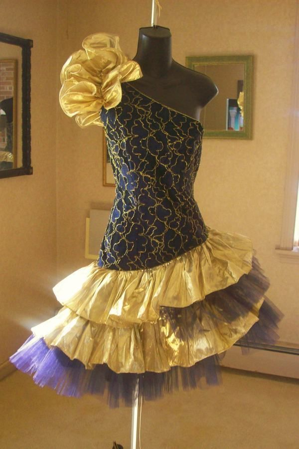 VINTAGE 80s TOTAL WILD CHILD PROM PARTY DRESS XL BEST IN ...